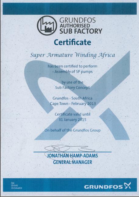 Grundfos Pumps Super Armature Winding Africa